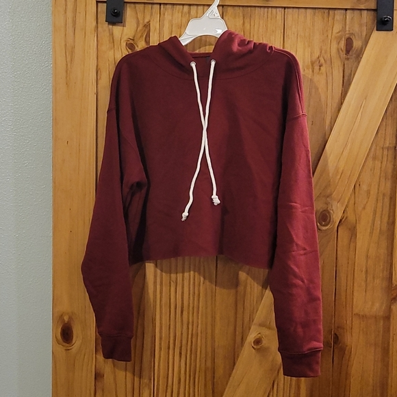 Wild Fable Crop Hoodie, Red, Size Large